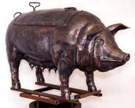 кованый мангал скульптура свинья